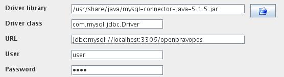 Openbravo POS configuration.